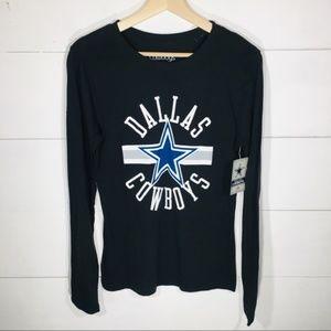 DALLAS COWBOYS NFL women's Medium LS T-shirt NEW